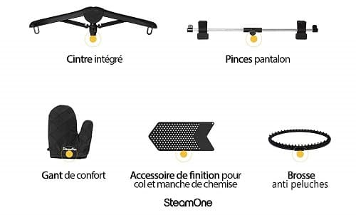 Accesorios centro de planchado Steam One Unilys Black